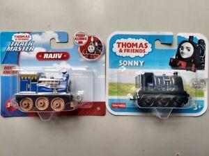 2 x Thomas & Friends Push Along Metal Engines SONNY GHK65 & RAJIV FXX05 NEW