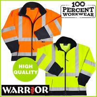 Pro Trade Quality High Visibility Soft Shell Work Safety Jacket Coat Hi Vis Viz