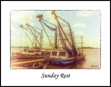 Sunday Rest Shrimp Boats 11x14 Photo  (20170702_001811x14)