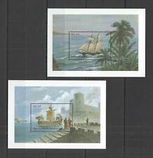 AB0078 ANTIGUA & BARBUDA TRANSPORT SHIPS OF THE WORLD !!! 2BL MNH