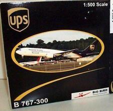 NEW BIG BIRD B 767-300 UPS WORLDWIDE SERVICES RARE MODEL AIRPLANE 1:500 SCALE