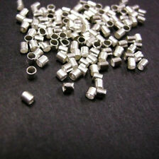 100pc Silver Crimp Tube Stopper Metal Bead 2mm-108