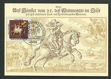 BRD MK POSTREITER PFERD HORSE CHEVAL MAXIMUMKARTE CARTE MAXIMUM CARD MC d7242