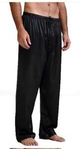 New Style Mens Silk Mulberry  Pajamas Pyjamas Pants Sleep Pants Bottoms 2019