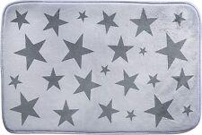 Badteppich Duschvorleger Badematte Badvorleger WC-Vorleger Stern Star weiss grau