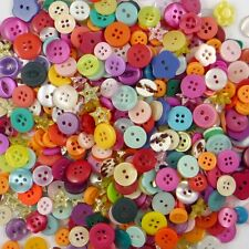100pcs Mixed Star Round Resin Buttons Lots 11MM Craft Sewing Scrapbook DIY Cards
