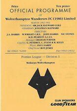 Football Programme>WOLVES RESERVES v NOTTS COUNTY RESERVES Apr 1993