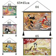Japanese Tapestry Banner Flag Wall Hanging Pictures Home Decor Maid Flower Print
