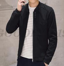 Fashion Men's Zipper Jacket Slim Collar Coat Overcoat Warm Casual Outwear