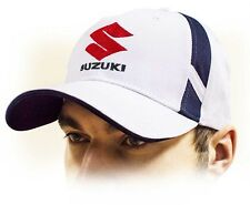 SUZUKI unisex Baseball Cap Hat. 100% cotton. White color. Adjustable size