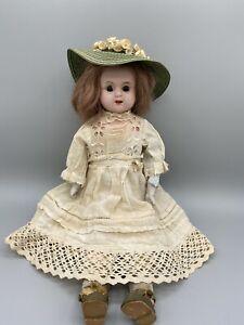 "Antique 1900's German 13"" Tin Shoulder Head Minerva Doll"