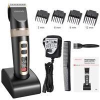 Tondeuse à cheveux sans fil rechargeable avec ecran pro support socle céramique