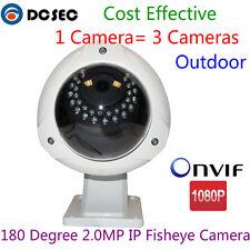 2MP 180 degree Wide Angle IR Dome Fisheye 1080P IP Camera POE Outdoor Onvif p2p