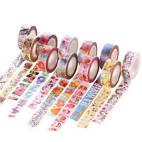 10m Self DIY Cartoon Washi Sticker Decor Paper Masking  Adhesive Tape Crafts New