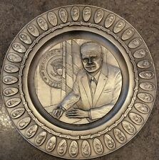 Dwight David Eisenhower Pewter Limited Edition Collector Plate