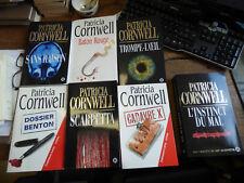lot de 7 livres de patricia Cornwell : Scarpetta -  cadavre X -  trompe-l'oeil