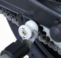 R&G Racing White Cotton Reels/Paddock Stand Bobbins for Kawasaki ZZR1400 (ZX-14)