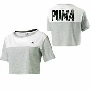 Puma Style Swagger Short Sleeved Relaxed Fit Womens Crop Tee Top 836859 04 RW39