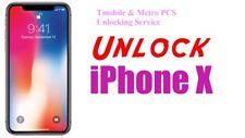 Tmobile/Metro PCS IPhone Unlocking Service IPhone X [1-5days]