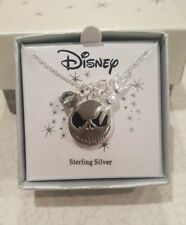 Disney Sterling Silver Jack Skellington and Zero Necklace