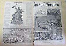 Le petit parisien 1890 91 Sarah Bernardht dans cléopatre