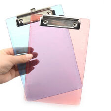 1pc New Clipboard Plate Door Translucent Block Clip For Paper A5 Off  G2