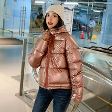 Winter Women Quilted Short Coat Ladies Thick Puffer Hooded Parka Jacket Outwear