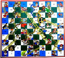 1 PC SNAKES AND LADDERS EDUCATION PAPER GAME TRADITIONALLY FRIENDS AND FAMILY