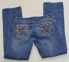 Women's Wrangler Rock 47 Ultra Low Rise Bootcut Jeans Pants Size 8