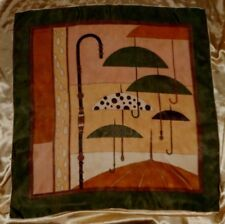 "USA Umbrella Scarf VinTage 30"" Charming 1950's Rain Umbrella Motif"