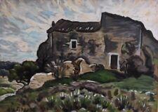 "Alfred Lesbros,(1873-1940) "" Le mazet"" . Huile sur carton .v274"