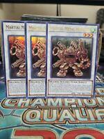 3x Martial Metal Marcher - Ultra Rare - NM - Yugioh - CT15-EN009