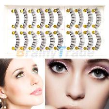 Soft 10 Pairs Long Makeup Cross False Eyelashes Eye Lashes Nautral Handmade