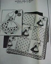 Vintage Quilt Quilting Sewing Fabric Pattern SunBonnet Sue w Balloons