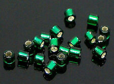 20g (about 1,400) Green CZECH GLASS Seed BEADS for Jewellery Craft Sewing NEW