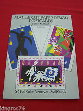 "Mint - 1989 ""Henri Matisse's"" (24) Cut-paper Postcards booklet"