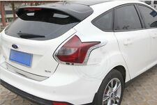 For Ford Focus 2012 2013 Hatchback ABS Chrome Tail Light Cover Trim New