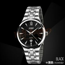 Mens Stainless Luxury Brand Skmei Analog Quartz Business Sport Wrist Watch Black