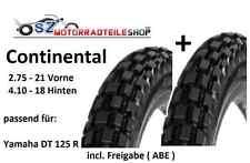 Continental 2.75-21 und 4.10-18 Reifen SATZ passend f. Yamaha DT 125 R