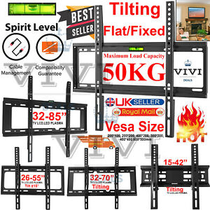 All Types TV Wall Mount Bracket Fixed Tilting And Tilt & Swivel 10 - 70 Inches