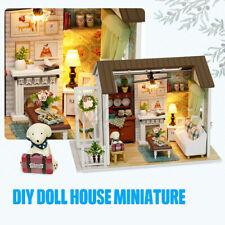 DIY Miniatur Puppenhaus Kit 1:24 Skala Holz DIY Dollhouse Spielzeug Kit Kinder