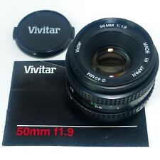 Pentax K Mount Prime Lens - Vivitar 1:1.9 50mm MF f1.9 for SLR DSLR Camera +Acc