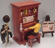 4-Tune Piano Music Box w/ Pianist & Accessories - Hand Made by a Texas Craftsman