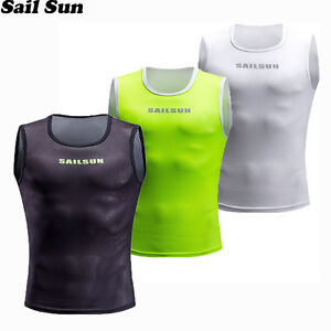 Cycling Jersey Keep Dry and Warm Mesh Cycling Vest Sleeveless Bicycle Undershirt