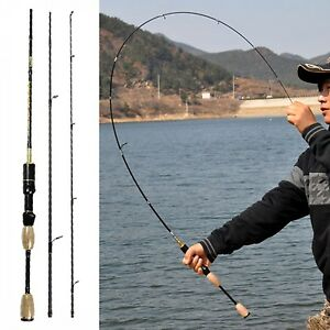 Spinning Fishing Rod Travel Portable Carbon Fiber Pole Ultra Light Reel Rods 1.8