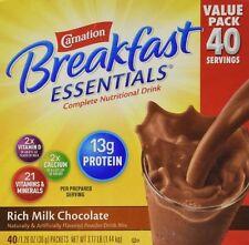 Carnation Breakfast Essentials Rich Milk Chocolate, 40 Servings