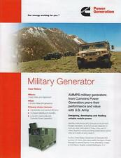 CUMMINS MILITARY GENERATOR 2013 BROCHURE PROSPEKT FOLDER