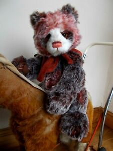 BEAUTIFUL LARGE SOFT & FLUFFY CHARLIE BEARS TEDDY CALLED DIXIE WITH ID TAGS