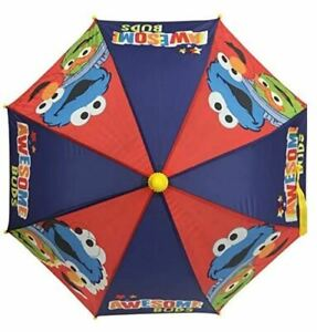 Sesame Street Kid's Elmo & Cookie Monster umbrella Molded umbrella for Kids