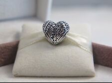 New w/Box & Tag Pandora Sterling Silver Angelic Feathers Charm #791751 Angel